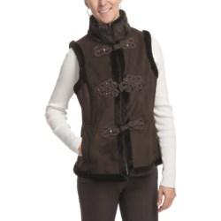 LNR Faux-Suede Vest - Furry Pile Lining (For Women)