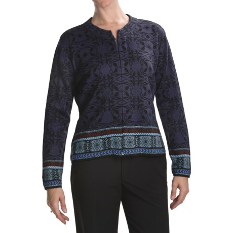 Skadi Alpaca Zip Cardigan Sweater (For Women)