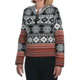 Skadi Alpaca Sweater - Clasp Pullover (For Women)