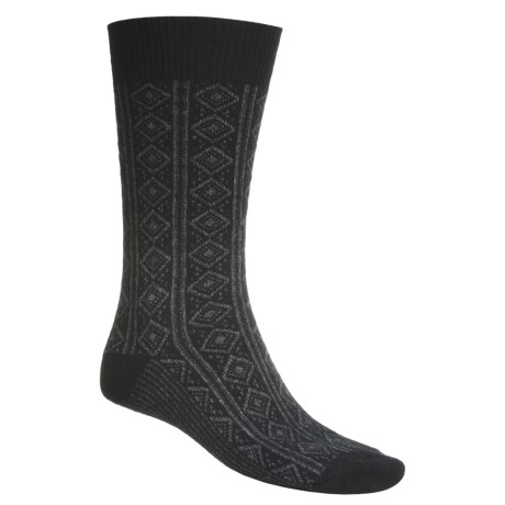 b.ella Diamond Panel Dress Socks - Merino Wool-Cashmere (For Men)