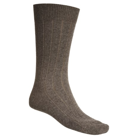 b.ella Ribbed Dress Socks - Crew (For Men)