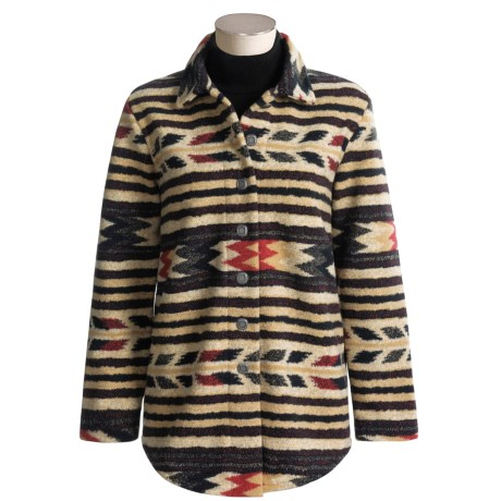 County Clothing Blanket Stripe Overshirt - Long Sleeve  (For Women)