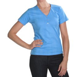 ALPS Tory T-Shirt - Stretch Cotton, Short Sleeve (For Women)