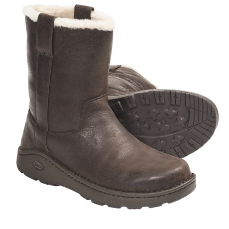 Chaco Credence Baa Snow Boots - Shearling Lined, Slip-Ons, Leather (For Men)