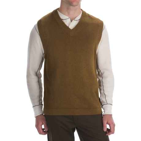 Woolrich Long Run Sweater Vest - Cotton-Lambswool (For Men)