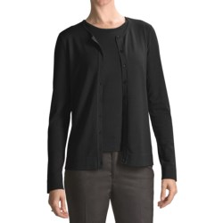 August Silk Silk Basics Cardigan Sweater (For Women)