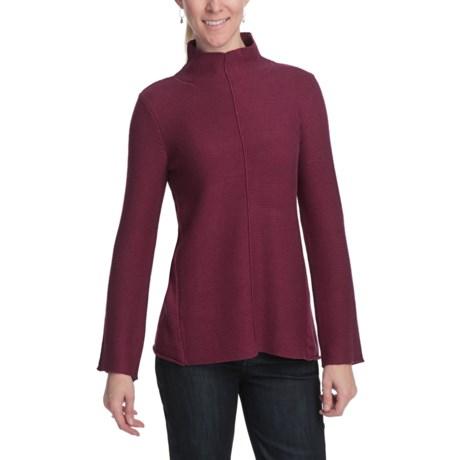 August Silk Multi-Texture Turtleneck Sweater (For Women)