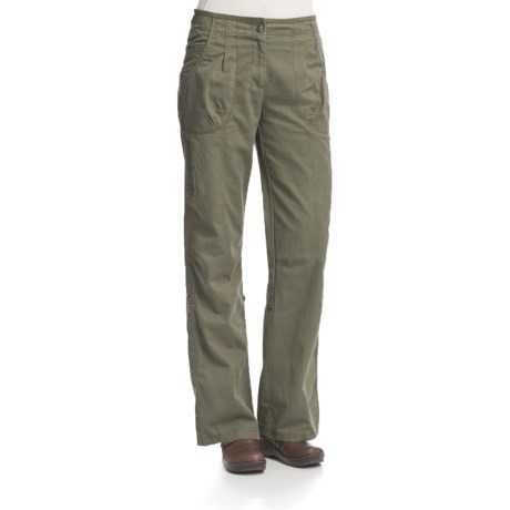 Woolrich Pierpoint Pants - Peached Cotton Twill, Roll-Up Leg (For Women)