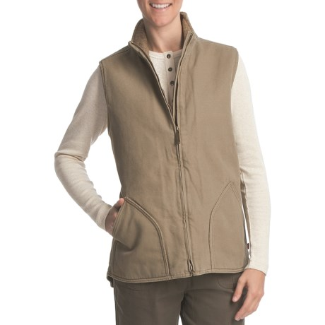 Woolrich Rugged Vest - Cotton Canvas, Fleece-Lined (For Women)