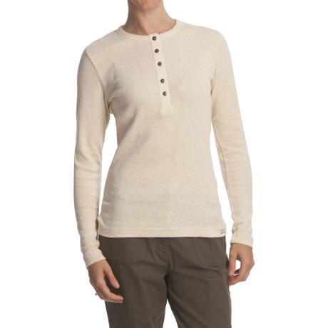 Woolrich Thermal Henley Shirt - Stretch Cotton, Long Sleeve (For Women)