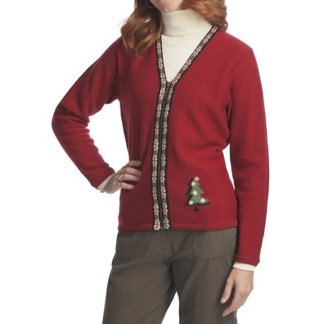 Woolrich Winter Tree Cardigan Sweater - Boiled Wool (For Women)