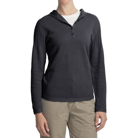 Woolrich Cedar Grove Hoodie Shirt - Ramie-Cotton Knit, Long Sleeve (For Women)