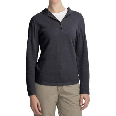 Woolrich Cedar Grove Hoodie Shirt - Ramie-Cotton Knit, Long Sleeve (For Women)