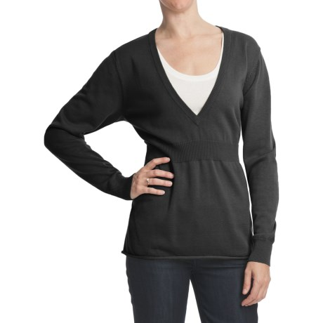 Woolrich Treyvon Deep Vee Sweater (For Women)