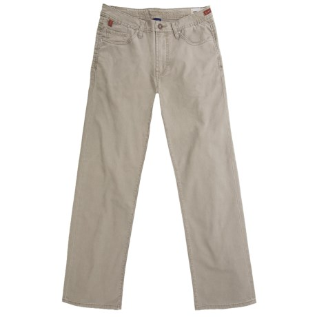 Worn Denim Jeans - Coated Cotton Canvas, Straight Leg (For Men)