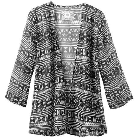 Element Marcelle Wrap - Printed Chiffon, 3/4 Sleeve (For Women)