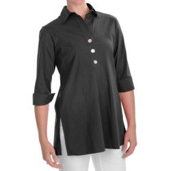 Foxcroft Stretch Shaped Tunic Shirt - 3/4 Sleeve (For Women)