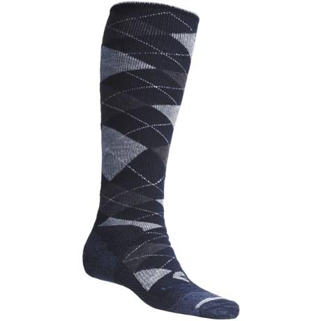 Lorpen Argyle Snowboard Socks - Italian Wool, Heavyweight (For Men and Women)