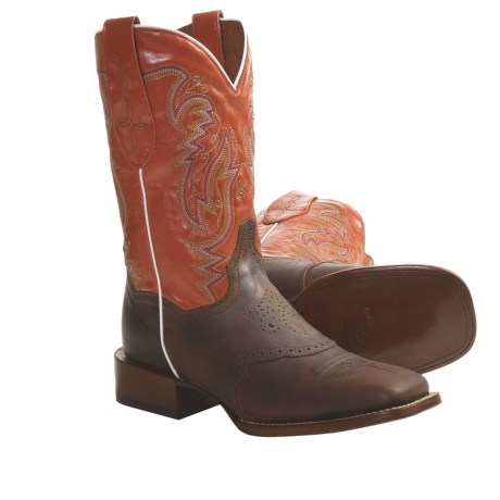 "Dan Post Scottsdale Broad Cowboy Boots - 11"", Square Toe (For Women)"