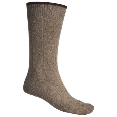 Byford® Donegal Rib Mid-Calf Socks - Merino Wool-Silk (For Men)