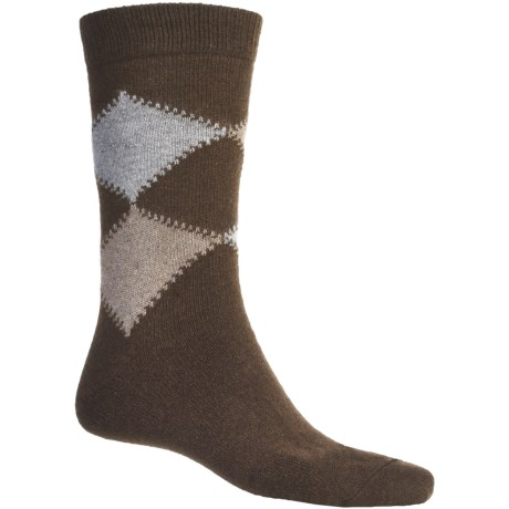 Byford® Cashmere Argyle Socks - Mid-Calf (For Men)