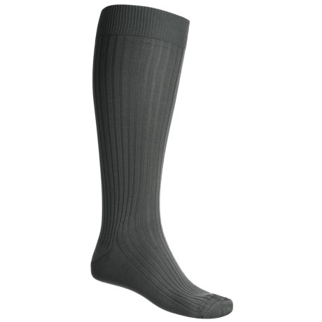 Byford® Island Rib Socks - Pima Cotton, Over-the-Calf (For Men)