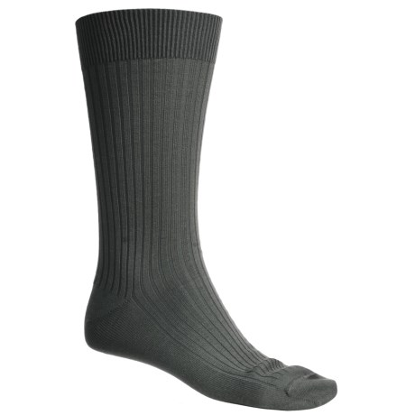 Byford® Island Rib Mid-Calf Socks - Pima Cotton (For Men)