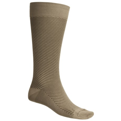 Byford® Diagonal-Block Stripe Over-the-Calf Socks - Pima Cotton (For Men)