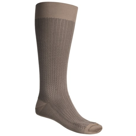 Byford® Herringbone Over-the-Calf Socks - Pima Cotton (For Men)