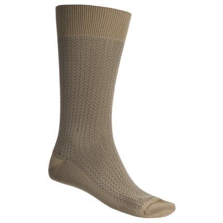Byford® Herringbone Socks - Pima Cotton, Mid-Calf (For Men)