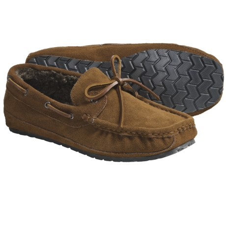 Minnetonka Trapper Moc Slippers - Suede (For Men)
