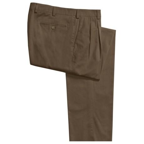 Hiltl Stretch Cotton Pants - Double-Reverse Pleats (For Men)