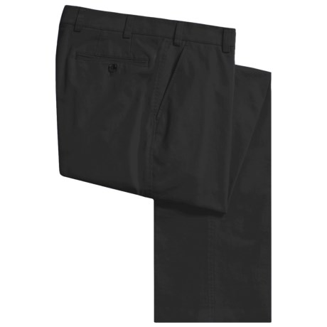 Hiltl Stretch Cotton Twill Pants - Flat Front (For Men)