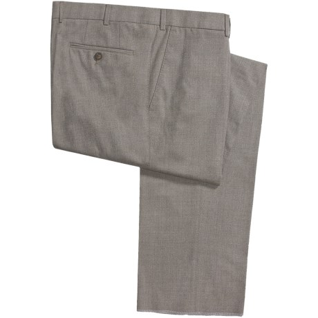 Hiltl Wool Dress Pants - Flat Front Pants (For Men)