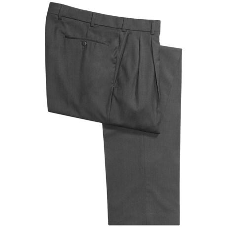 Hiltl Wool Dress Pants - Double Pleated (For Men)