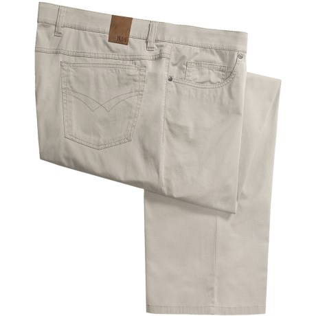 Hiltl Giza Cotton No-Iron Pants - 5-Pocket, Relaxed Fit (For Men)