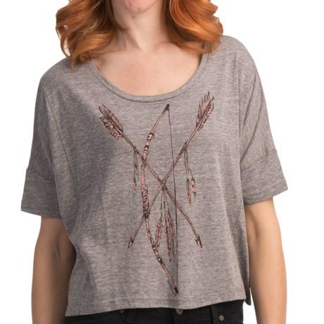 Billabong Screenprinted Oversized Crop T-Shirt - Organic-Cotton Blend, Short Sleeve (For Women)