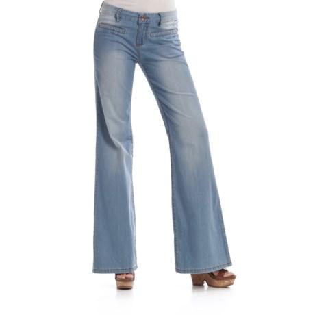 Billabong Big Hearts Trouser Pants - Crosshatch Denim (For Women)