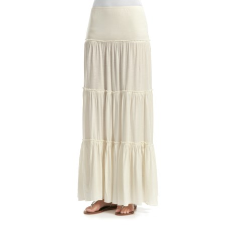 Billabong Long Way Tiered Maxi Skirt - Cotton Jersey (For Women)