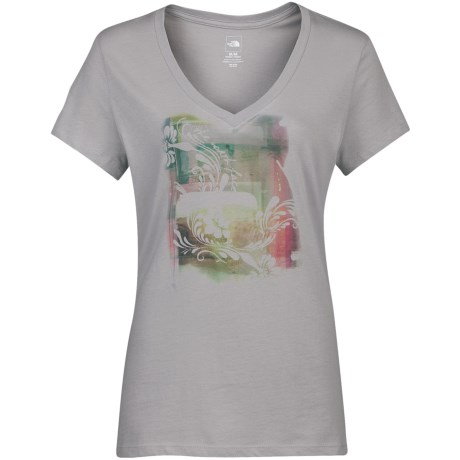 The North Face Impressionista T-Shirt - Cotton Jersey, V-Neck, Short Sleeve (For Women)
