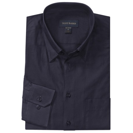 Scott Barber Andrew Sport Shirt - Cotton Dobby, Long Sleeve (For Men)