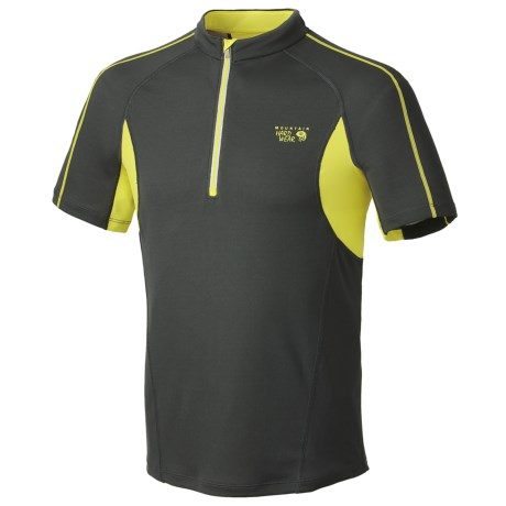 Mountain Hardwear Elmoro Shirt - UPF 25, Zip Neck, Short Sleeve (For Men)