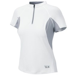 Mountain Hardwear Aliso Shirt - Zip Neck, UPF 25, Short Sleeve (For Women)