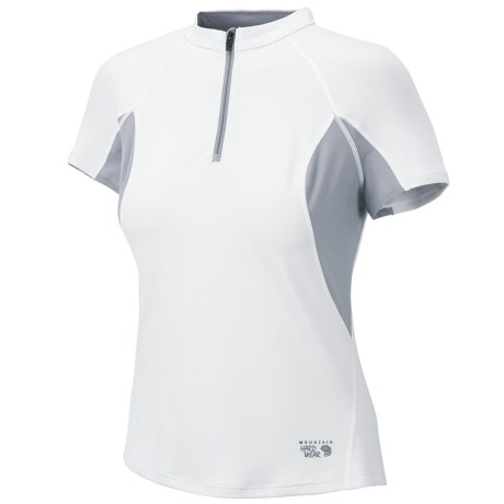 Mountain Hardwear Aliso Shirt - Zip Neck, UPF 25, Short Sleeve (For Women)