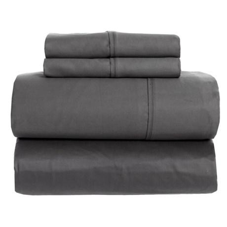 SoHome Studio Grey Cotton Sateen Sheet Set - King, 610 TC