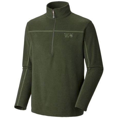 Mountain Hardwear Microchill Zip T Pullover - Velous Fleece, Zip Neck (For Men)