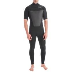 Billabong 202 Foil Wetsuit - 2mm, Short Sleeve, Chest Zip (For Men)