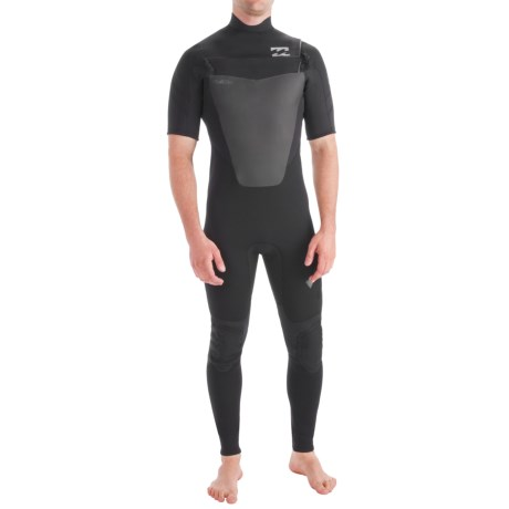 Billabong 202 Foil Wetsuit - 2mm, Short Sleeve, Chest Zip (For Men)