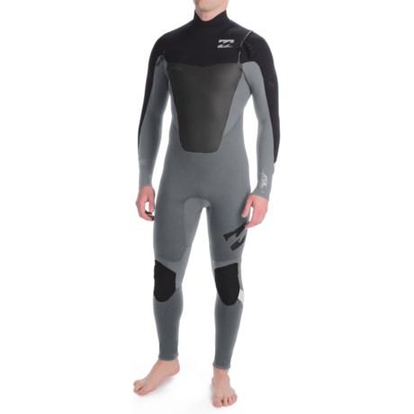 Billabong 403 Foil Full Wetsuit - 4mm, Long Sleeve, Chest Zip (For Men)