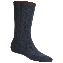 Catawba Outdoor Supply Ribbed Crew Socks - 2-Pack, Cotton-Wool Blend (For Men)